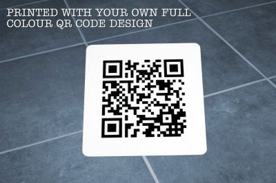 Large 2d Qr Code Indoor Heavy Duty Floor Stickers Graphics