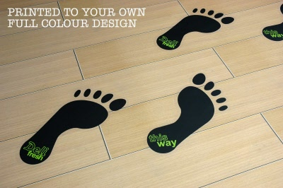 Footprint Floor Stickers Graphics Customark Limited