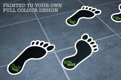 Standard Footprint Floor Stickers Customark Limited