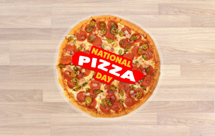 National Pizza Day Floor Stickers Graphics