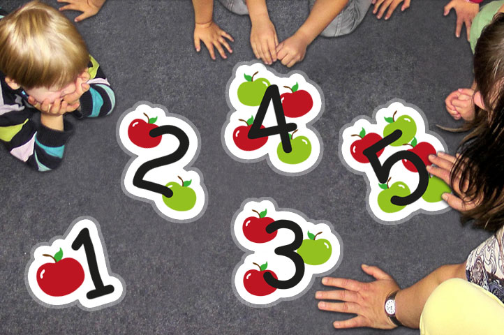 Number 1 10 Apple Floor Stickers Graphics