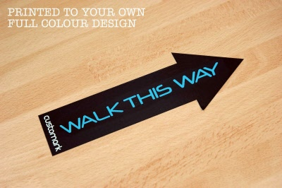 Large Directional Arrow Indoor Floor Stickers Graphics