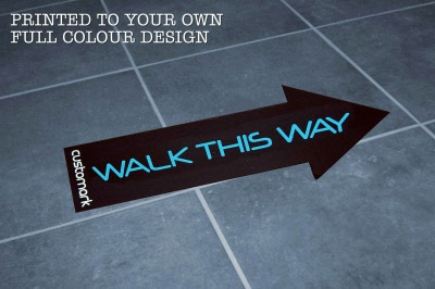 Large Directional Arrow Indoor Heavy Duty Floor Stickers