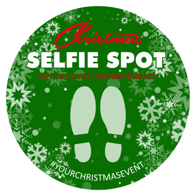 750mm Diameter Christmas Selfie Stop Outdoor Floor
