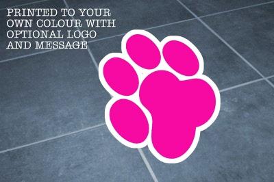 Large Dog Paw Print Indoor Heavy Duty Floor Stickers