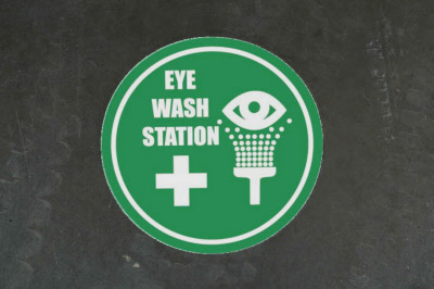 Eye Wash Station Outdoor Floor Stickers Graphics
