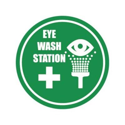 Eye Wash Station Outdoor Floor Stickers Graphics