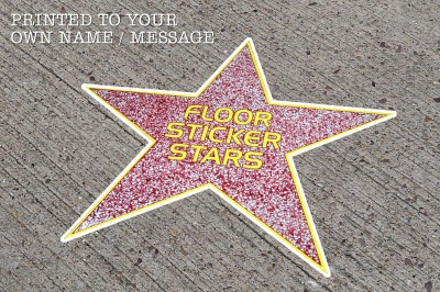 Hollywood Walk Of Fame Star Outdoor Floor Stickers
