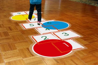 Hopscotch Vinyl Floor Sticker Graphic