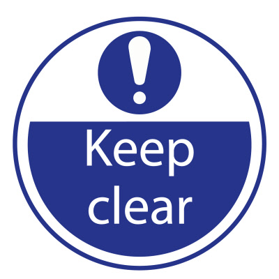 Keep clear safety floor signs stickers graphics for Floor stickers