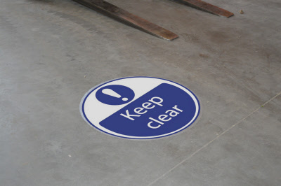 Keep Clear Safety Floor Signs Stickers Amp Graphics