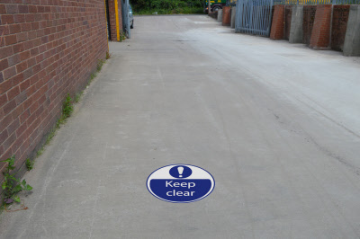 500mm keep clear safety floor stickers graphics for Outdoor safety flooring