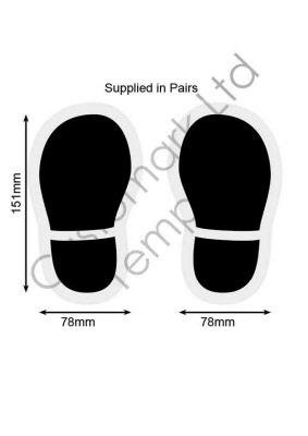 Childrens Shoe Print Floor Graphics Stickers