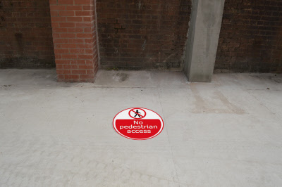 500mm Safety Outdoor Floor Stickers Graphics
