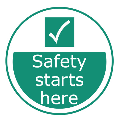 Safety Starts Here Outdoor Floor Stickers Graphics
