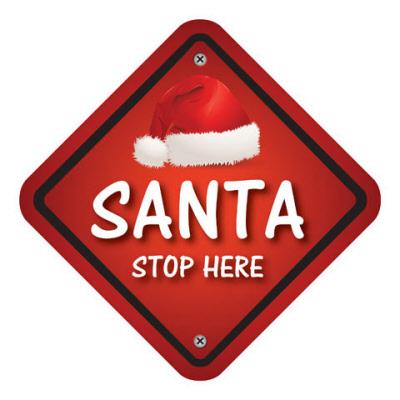 500mm X 500mm Santa Stope Here Indoor Floor Stickers