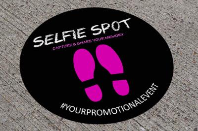 750mm Diameter Selfie Spot Outdoor Floor Stickers Graphics