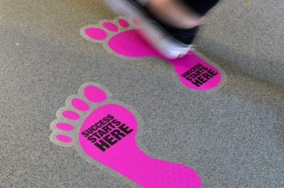 Standard Footprint Floor Stickers Customark Limited