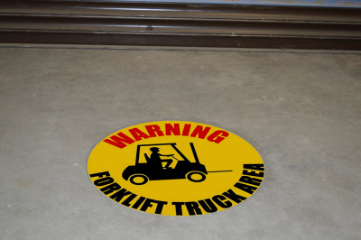 Forklift Floor Signs Stickers Amp Graphics