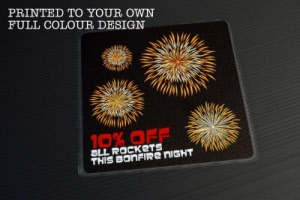 Example - Bonfire Night / Fireworks Floor Stickers