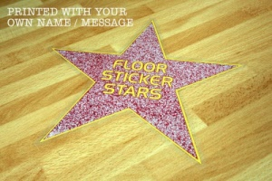 Hollywood Walk of Fame Style Floor Stickers
