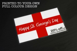Example - St. Georges Day Promotional Floor Stickers