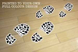 Example - Running Shoe Print Floor Stickers (Trainers)
