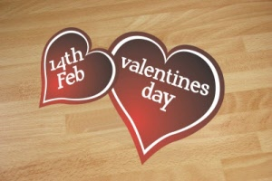 Example - Valentines Linked Heart Floor Stickers
